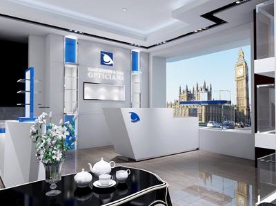 England Optical Boutique Store Displays Project