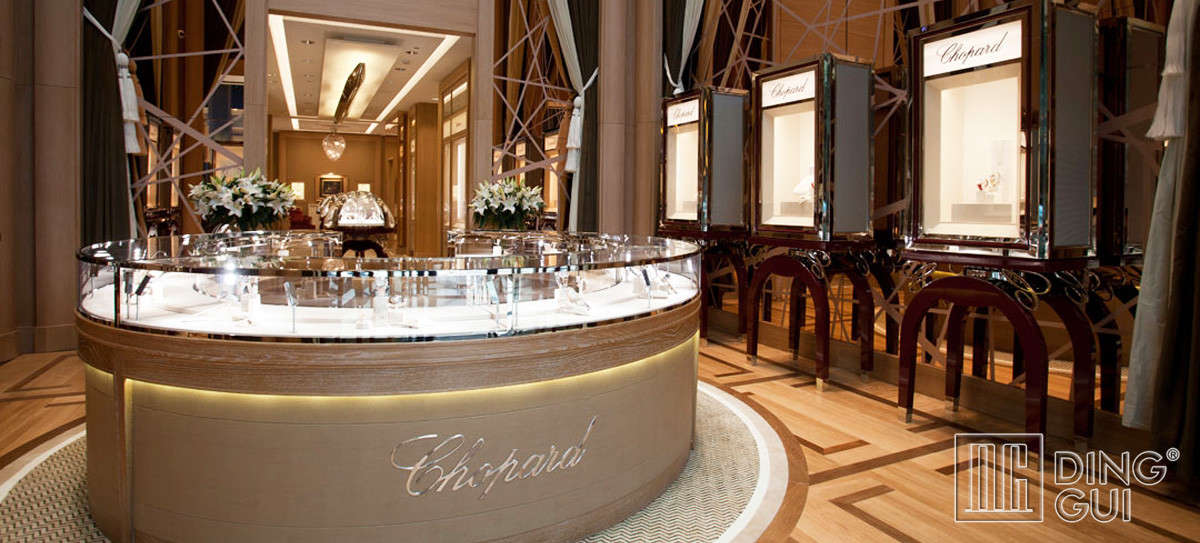 Luxury brand watch display cabinet