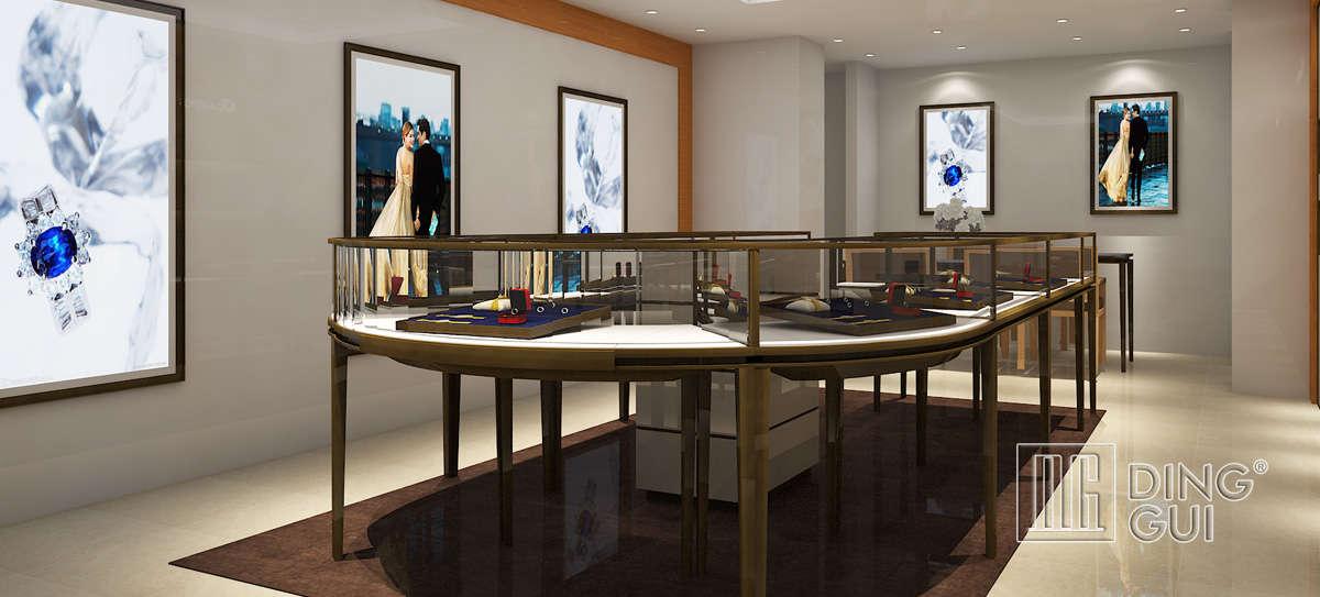 High End Luxury Jewelry Store Showcase Design