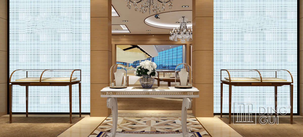 Luxury High End Jewelry Showcase Design