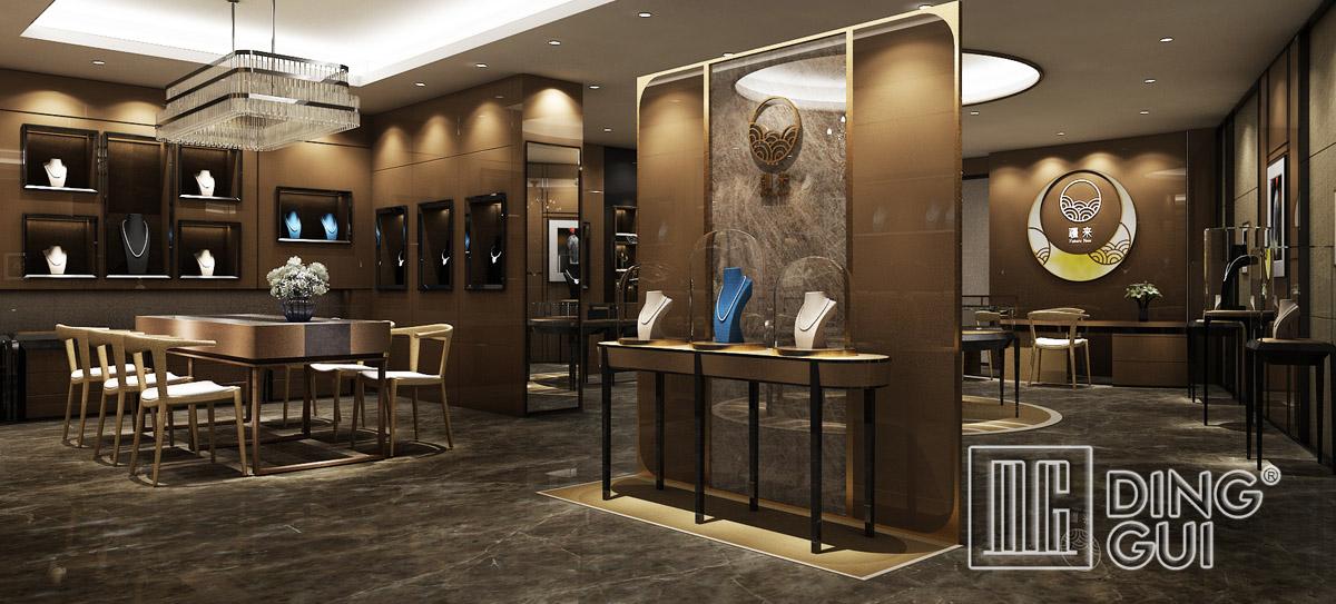Luxury Jewelry Store Showcase Design