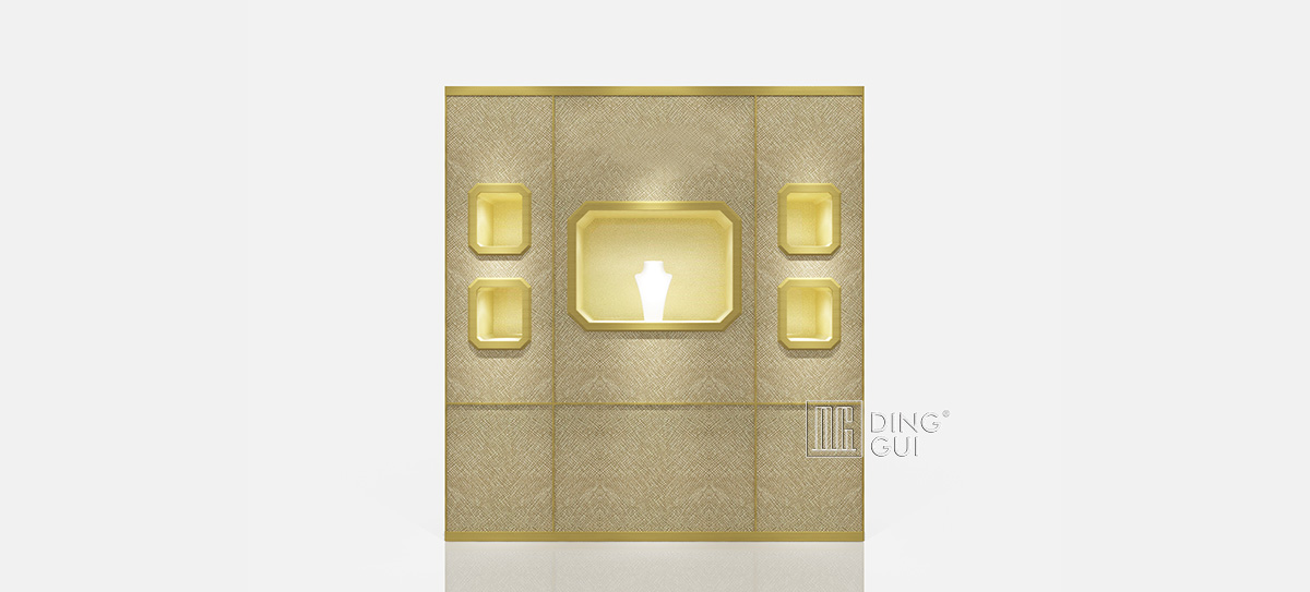 Luxury Jewelry Wall Display Cabinet