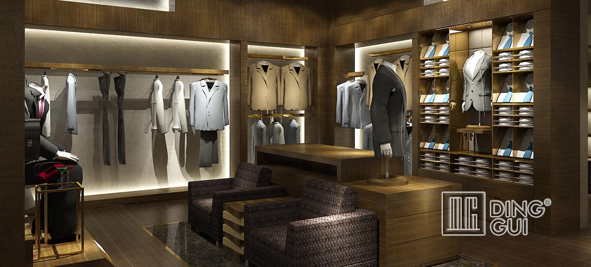 High end menswear shop display