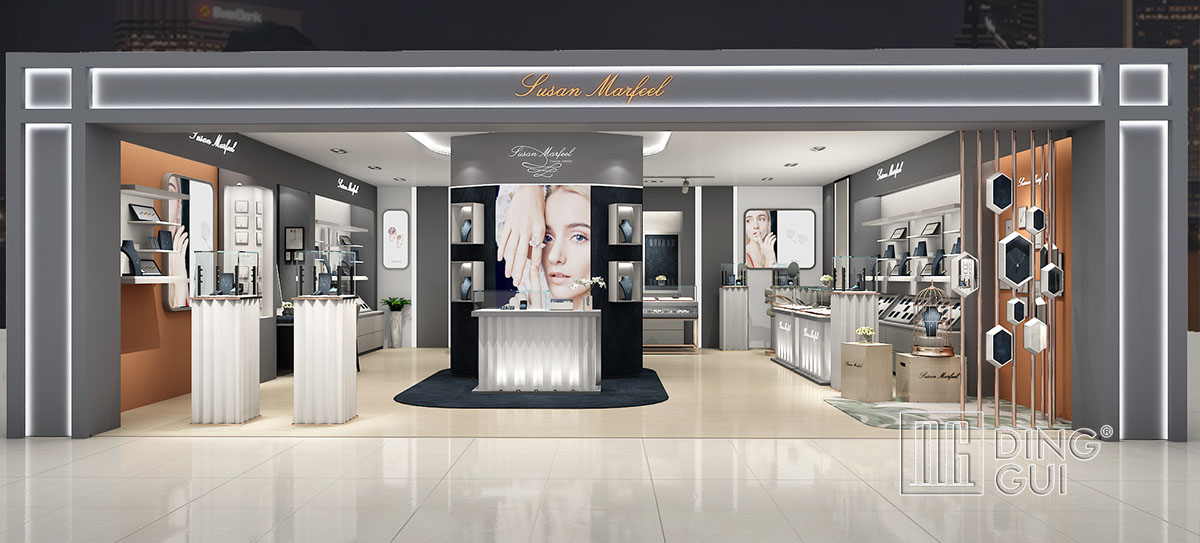 High End Luxury Jewelry Store Display Showcase