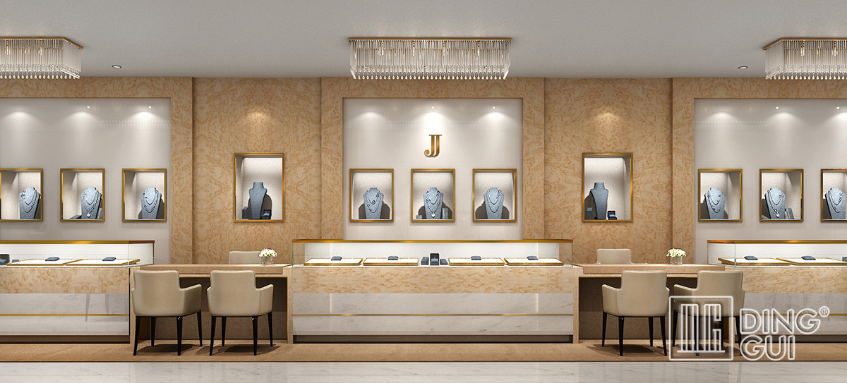 High End Luxury Jewelry Shop Display Showcase