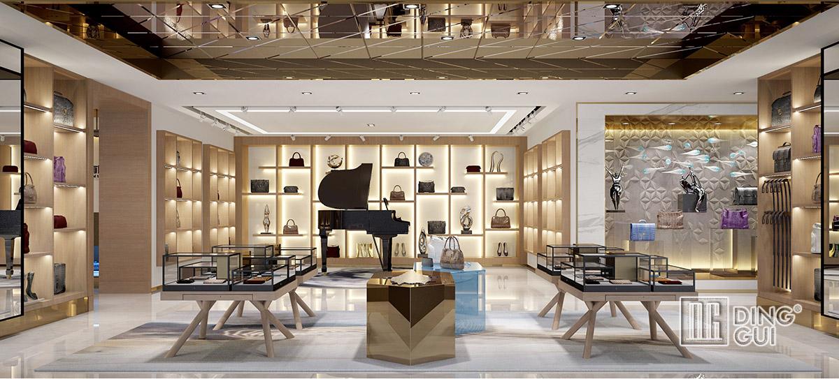 elegant ladies shoes shop display