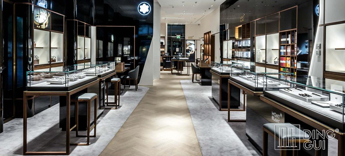 Luxury high end watch store display design