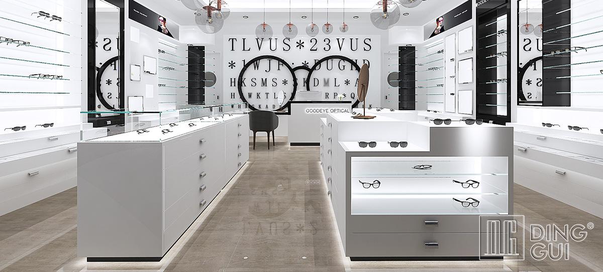 Luxury optical shop design