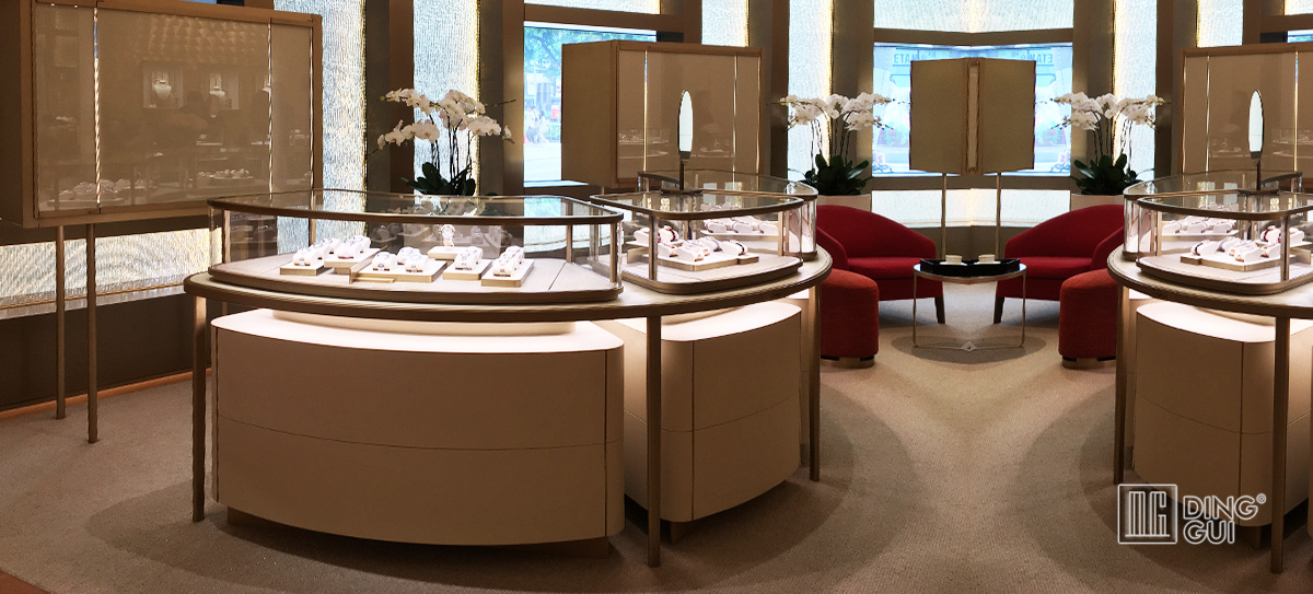 High End Luxury Jewelry Display Showcase