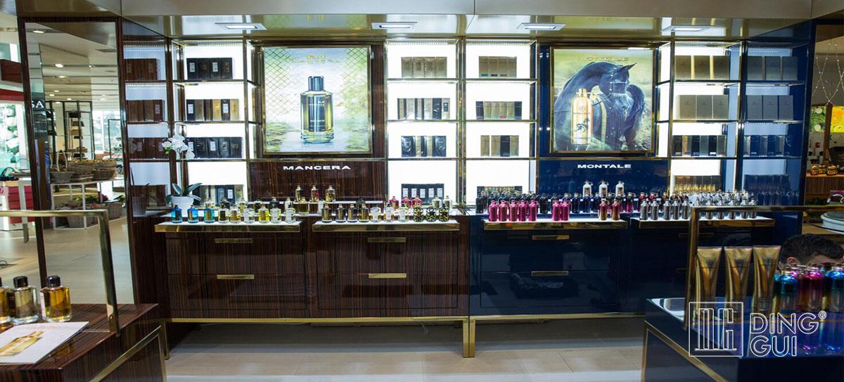 High End Luxury Cosmetic Shop Showcase