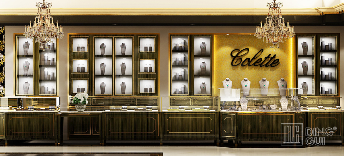 High End Luxury Jewelry Store Showcase