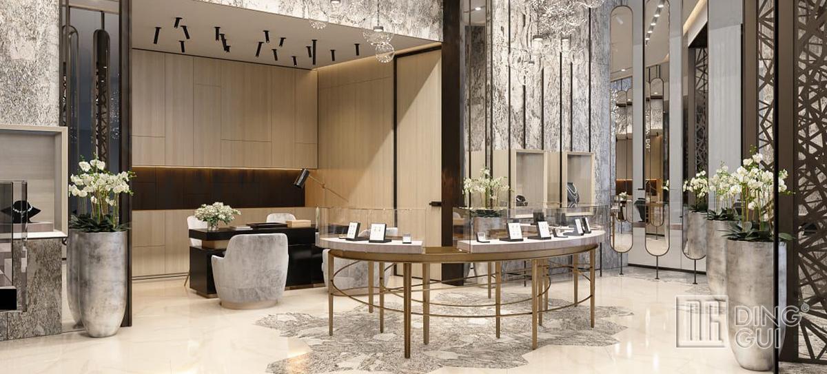 High End Dubai Luxury Jewelry Display Showcase